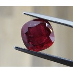 2.05 ct. GRS Certified Extra Fine Ruby  - Cushion shape