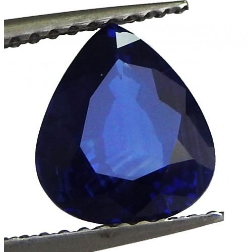 Black Friday Not Heated Sapphire Certified by GIA 2.47ct Pear Shape Genuine Sapphire for Gemstone Collectors
