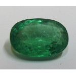 7.66 carat, Oval cut, HUGE gemstone, Engagement Ring, Emerald Ring, Genuine Emerald