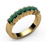 7-Emerald Wedding Ring in 18K Yellow gold (4/5 ct.)