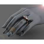 Trillions 3-stone Emerald & Diamond Engagement Ring in 18K Yellow gold (1/2 ct. tw. side diamonds)