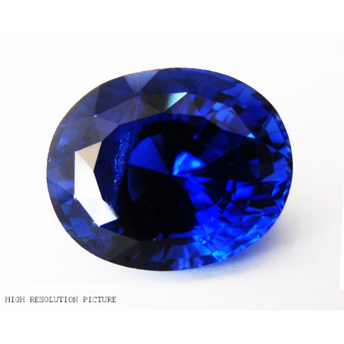 13.65 carat Top of the Line Extra Fine Royal blue Sapphire -Oval cut - TGL certified