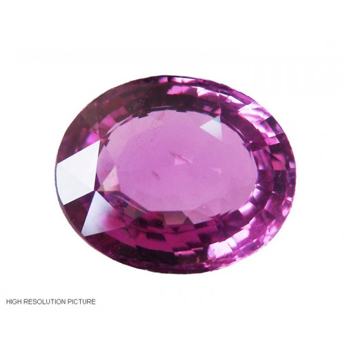 11.05 carat Top Quality Pink Sapphire -Oval cut - GRS certified