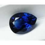 9.25 ct. Top of the Line Extra Fine Royal blue Sapphire - Pear cut - Not heated - GRS certified