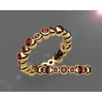 20 Ruby Eternity Ring in 18K Yellow gold (1.1/4 ct. tw.)