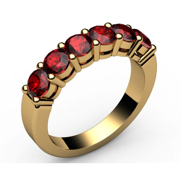 6-Ruby Wedding Ring in 18K Yellow gold (1.1/2 ct. tw.)