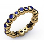 20 Sapphire Eternity Ring in 18K Yellow gold (1.1/4 ct. tw)